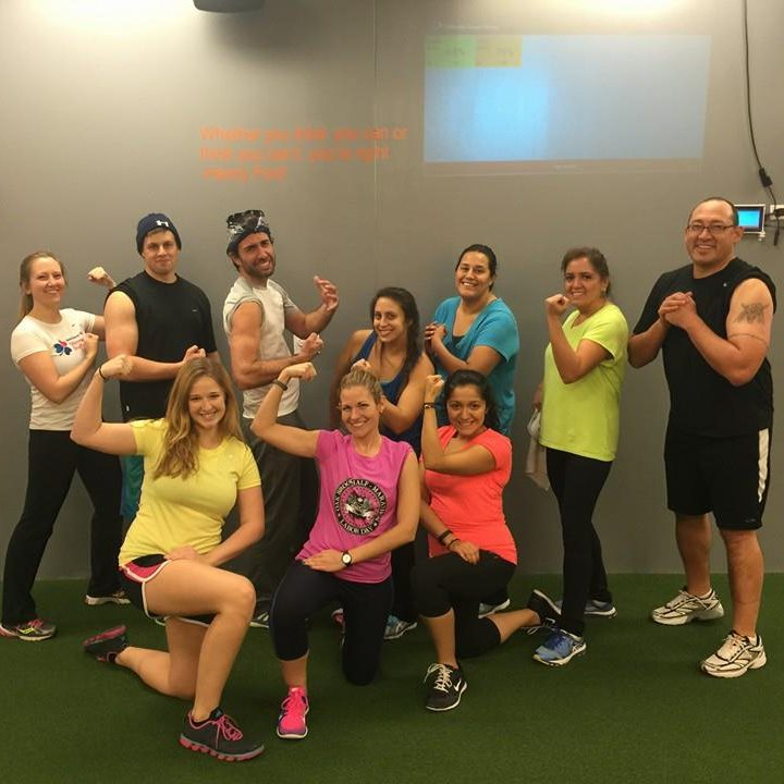Motiv Gym using Selfloops Group Fitness for heart rate monitoring