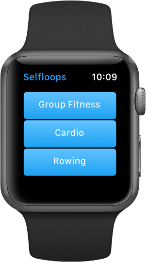 Selfloops application for Apple Watch start screen
